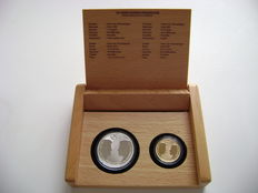 The Netherlands – combination set 10 Euro 2002 'Marriage coin' in gold and silver (2), in original condition