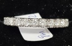 18k Gold Eternity Round Diamond Ring - 0.51 ct G / VS - size 52