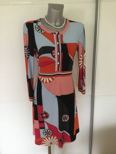 Emilio Pucci dress completely made of Jersey silks