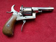German 8mm Pinfire Revolver open frame - 19th Century