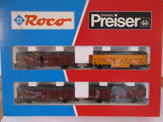 Roco/Preiser H0 - 44009/30726 - set with 4 carriages of circus Krone Munich