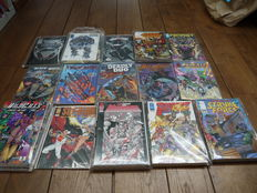 Image - 45 (near) complete series - a.o. Brigade, Wildcats, Youngblood, Wetworks, New Men - 344x sc - (1990's)