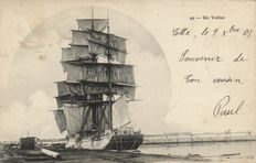 France sailing ships 90 x-Military and historical sailing vessels-including many French ports-1900/1940