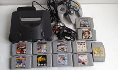 nintendo 64 with 11 games Like the legend of zelda and more.