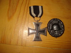 2 Orders: 1st Iron Cross 2 and a Purple Heart WW I