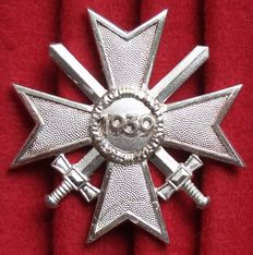 Germany War merit cross 1st Class with swords with polished edges. Edition after 1957.