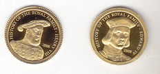 "Cook Islands - 1 Dollar (2 pieces) 2008 ""Henry VIII"" and ""Edward IV"" - Gold"