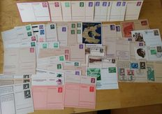 Germany Empire 1936/1945 - bundle of postal stationary, partially  Overprint occupying troops 59 pieces