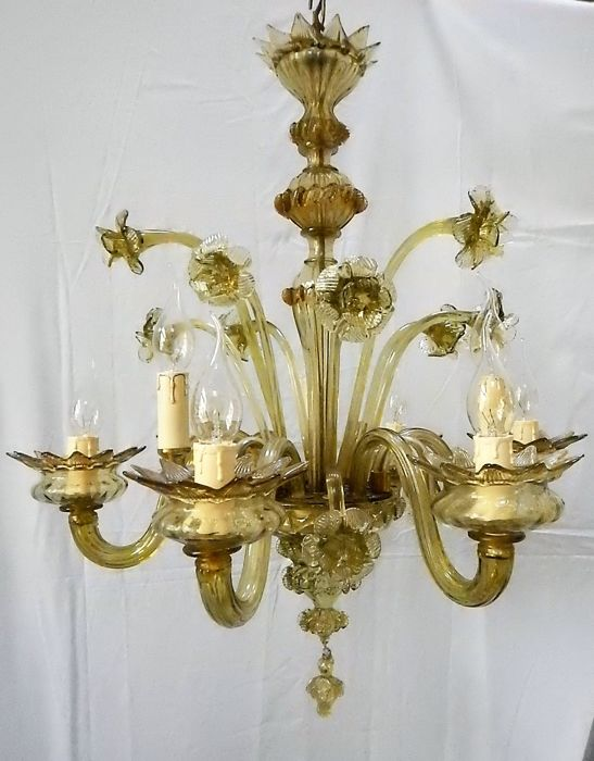 Murano glass chandelier, Italy, approx. 1920
