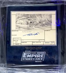 Star Wars: Episode V - The Empire Strikes Back - Original Storyboard - 1979 - Signed by Robert Watts