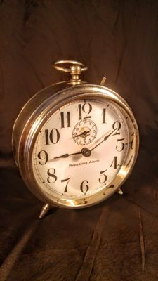 Rare Antique ca. 1921 year made in Germany FMS company (Friedrich Mauth Schwenningen) Repeating Alarm Clock.