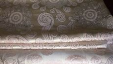 11 metres of damask fabric - Art Deco style - with silver thread - Italy, 20th century