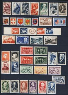 France 1949-1953 - 5 complete years - Yvert numbers 823 to 967