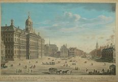 Amsterdam; John Bowles - A view of the Stadt House, new Church, Weighing House (...) - 1747