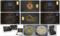 Karatbars - Lot of 3 Gold Cards 1 MONACO GRAND PRIX & 2 GOLD CLUB + 1 Gold Coin - 1 Karatbars Silver exclusive pin  - 2.20 g of 999.9  gold - 14.50 g of 999 silver - LBMA certificate