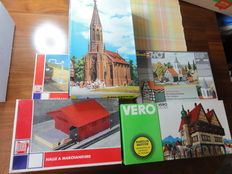 Vollmer/Jouef/Vero/Revell H0 - 4 construction kits of buildings and 1 water tap