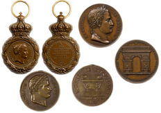France - Napoleon - lot of 3 medals 'St Helene', 'Inauguration of the Tomb' & 'Triumphal Arc'