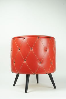 Designer unknown - sewing box / storage unit / pouf.
