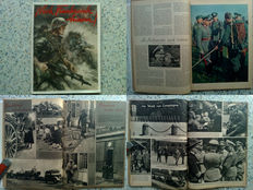 "Illustrated brochure in large format ""Nach Frankreich hinein!"" (Enter after France) - special issue of the soldier's newspaper: ""Der Durchbruch"" (The Breakthrough) - memorial issue dated 20 April 1941"