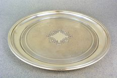 Russia, sterling silver tray, Saint Petersburg 1822-1826
