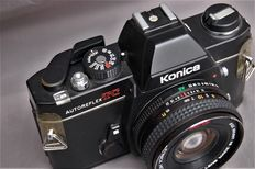 Konica autoreflex TC with Hexanon AR (pancake) 40mm and hexanon 135mm