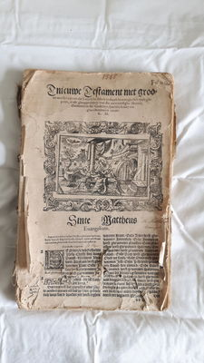 Cologne bible with many woodcuts in the Renaissance style by Virgil Solis - 1565