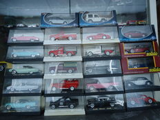 Solido - Scale 1/43 - Lot with 22 models: Dodge, Buick, Cadillac, Bugatti, Ford, Peugeot, Renault, Mercedes-Benz, Fiat & Lancia