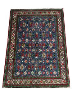 Handmade oriental carpet: Antique Kazakh Shirvan 135 x 109 cm