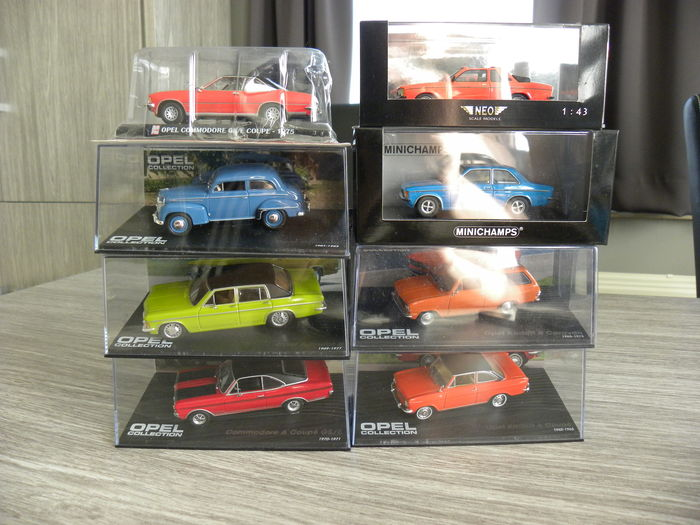 Various - Scale 1/43 - Lot with 8 models: 8 x Opel