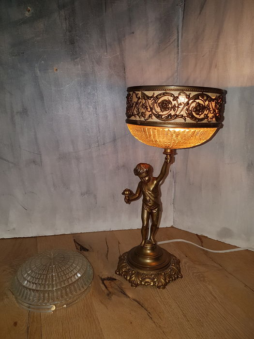Bronze Lamp Made As A Souvenir At The 1924 Olympic Games In Paris