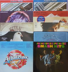 Best of the Best; The Beatles (4), Leonard Cohen, Rolling Stones (2), Bob Dylan, Santana, The Eagles, Jimi Hendrix Experience and Fleetwood Mac & Christine Perfect, all VG+/VG+