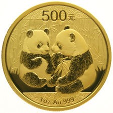 China – 500 Yuan 2009 'Panda' – 1 oz gold
