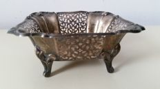 Silver-plated signed Art Deco bowl