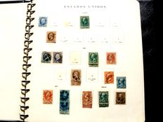 United States 1847/1976. Collection with 1,080 stamps in Philos album.