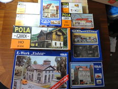 "Pola H0 - 9 building Kits including a power utility ""Eisfeld"""