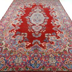 Semi antique Tabriz – 358 x 242 cm – oversized, vintage eye-catcher - beautiful, worn condition.