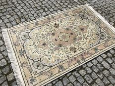 Unique Persian Tabriz, with silk -127x77cm -hand knotted