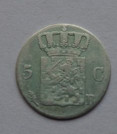 The Netherlands – 5 cents 1826B William I – silver