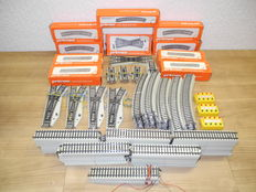 Primex H0 - 5072/-85/-77/-73/o.a. - 197-piece package with rails with 4 electrical points sets [711]