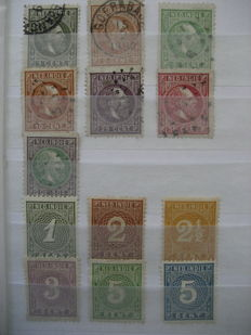Dutch East Indies / Indonesia – Batch from classic, including sheets and sheet parts