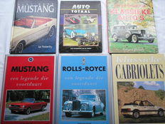 Lot publications about historical and legendary cars previous century - 1988/1995