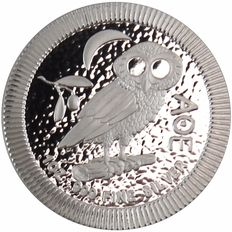 New Zealand - 2 Dollar Niue - Owl of Athens / Athenian Owl, 2017 - Stackable - 999 Fine Silver