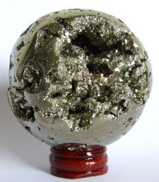 Peruvian Pyrite, with stand - 7cm - 640gm