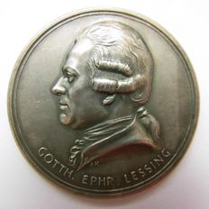 Weimar Pepublic - Silver Medal 1929 by Hörnlein commemorating to the 200th Anniversary of Gotthold Ephraim Lessing