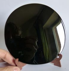 Beautiful Obsidian disc - 15cm - 272 gm