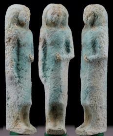 Egyptian blue faience Overseer Shabti - ca. 7,6 cm c. 2,99 inches