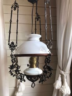 Antique oil ceiling lamp