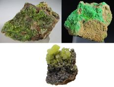 Lot - Pyromorphite On Quartz - Pyromorphite - Pyromorphite on Gossan Matrix - 345 gm (3)