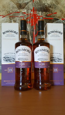 2 bottles - Bowmore 18 years old