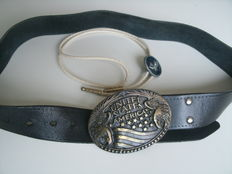 Black Leather belt and Necklace